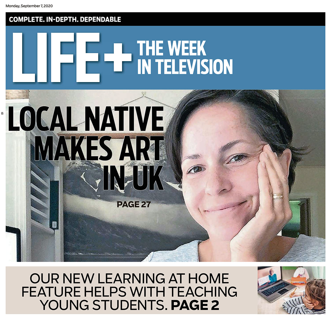 Artist Ashley Stuart in the Dayton Daily News