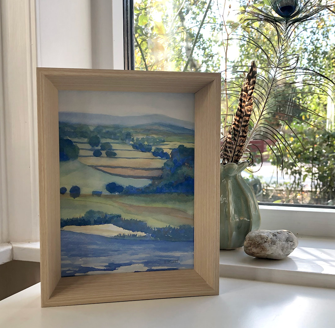 Original Watercolor of the View from Belvoir Castle by Ashley Stuart
